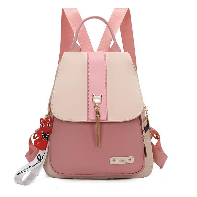 Impermeabile donne del panno di Oxford zaino nappa zaino moda per le ragazze sacchetti di scuola Borse da viaggio borsa a tracolla Daypack Stitching