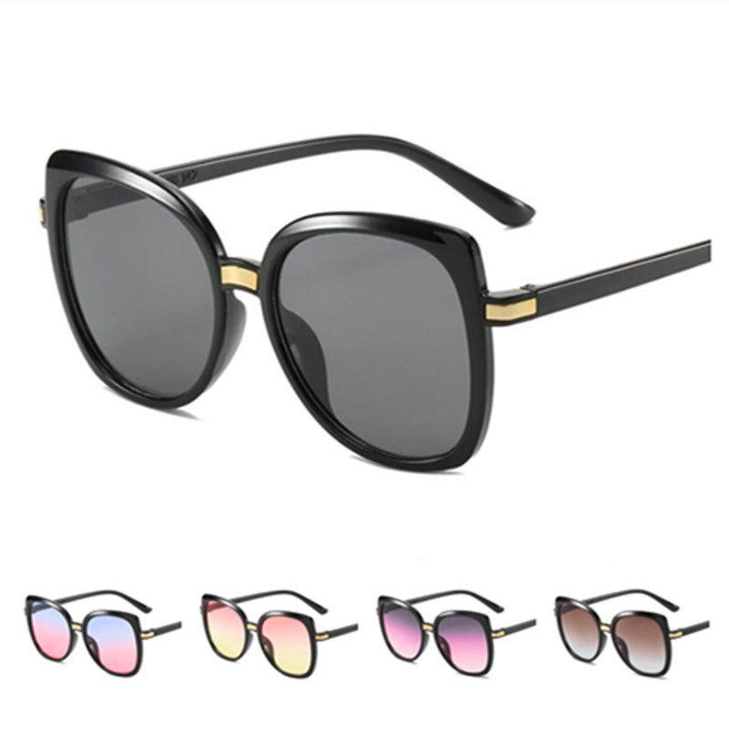 Moda Kadınlar Güneş Kedi Göz Güneş Gözlükleri Gradyan Lens Gözlük Anti-UV Gözlük Oversize Çerçeve Gözlük Adumbral A ++