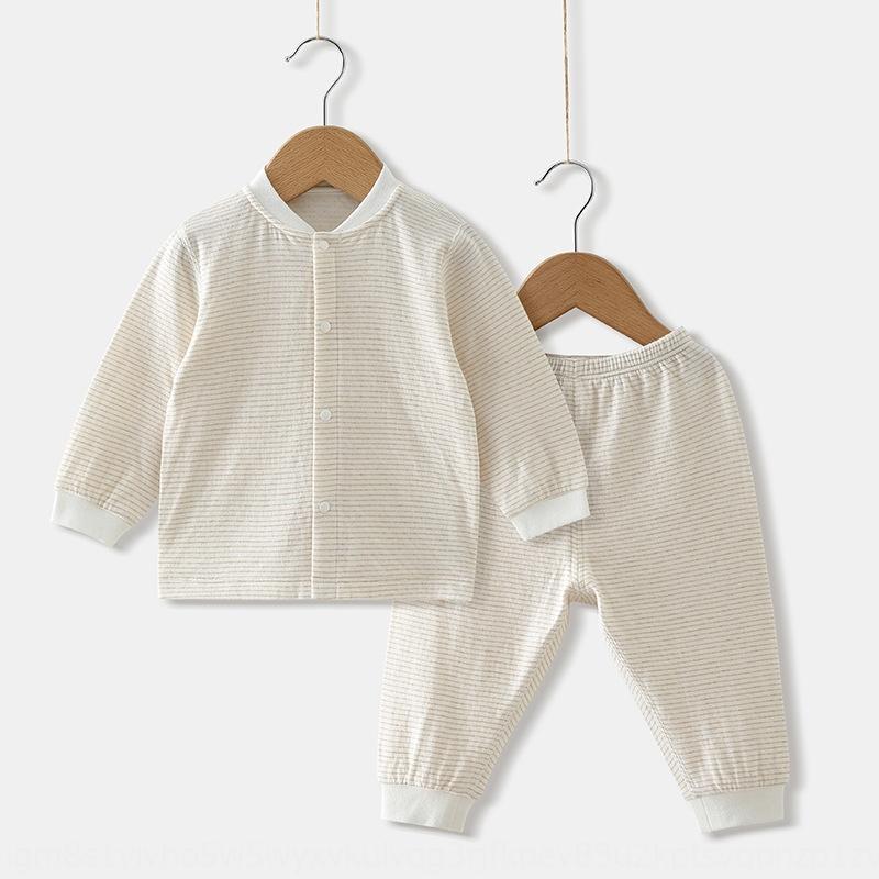 2020 do bebê de algodão puro manga comprida terno aberto, cheio de ternos meninos para meninos e meninas e meninas casa terno