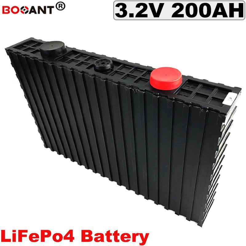 Cycle profond batterie LiFePO4 3.2V 200Ah pour véhicule électrique vélo au lithium cellulaire Livraison gratuite