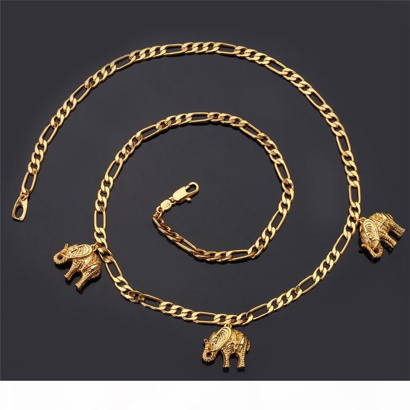 New Item Cute Charm Necklace Pendant 18K Real Gold Plated Lovely Elephant Necklace Fashion Jewelry Wholesale For Women YN5167