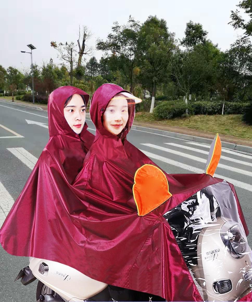 Безопасность Светоотражающий плащ утолщенной Оксфорд плащ мотоцикл электрический пончо двойной Брим мотоцикл плащ