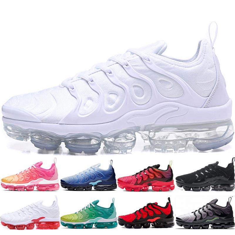 zapatos superiores de los deportes de venta para hombre para mujer TN además Triple blanca tropical de la puesta del sol Violeta Azul Negro Blanco Rojo Triple uva además eur zapato 36-45