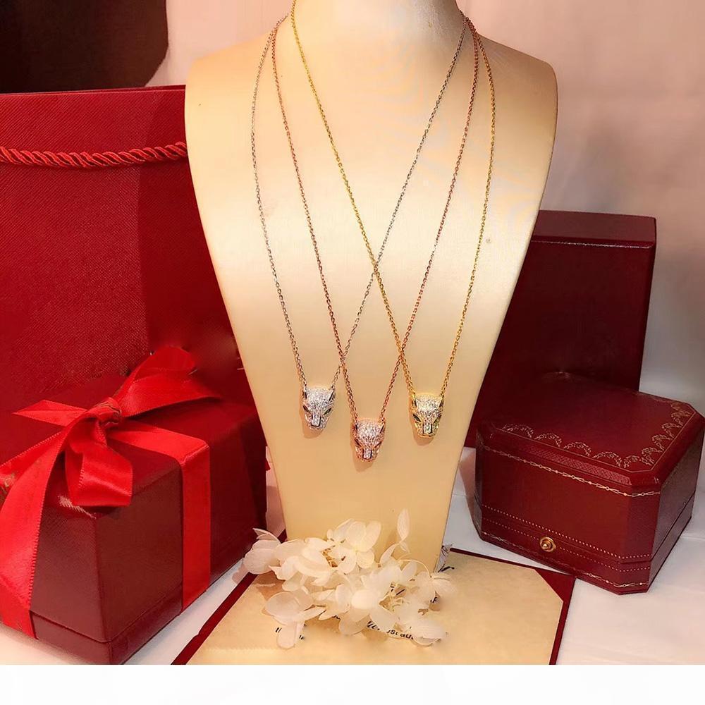 Me joyería de plata S925 Leopard Imprimir partido de la moda collar popular de calidad alta para las mujeres de lujo de boda joyería leopardo de la pantera Nec