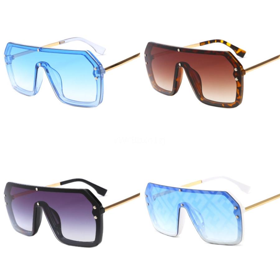 Vente en gros Double F Lunettes de soleil Femmes Hommes Ovale Lunettes de soleil Lunettes Lunettes Eeywear Métal UV400 Shade HD Objectif Fashion Drive extérieure # 878