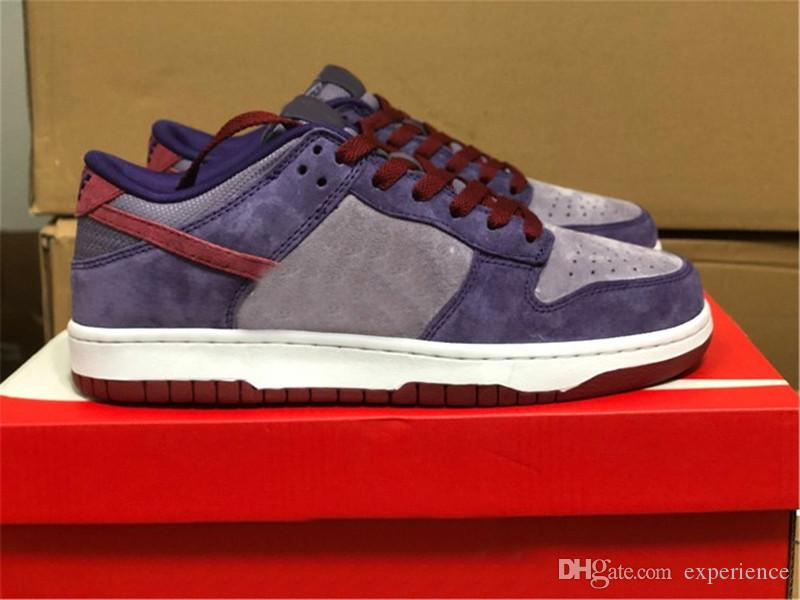 2020 Release Dunk SB Low Plum Daybreak BARN Raspberry Purple Running Shoes Mens Womens Skateboard Shoes Outdoor Sneakers With Original Box