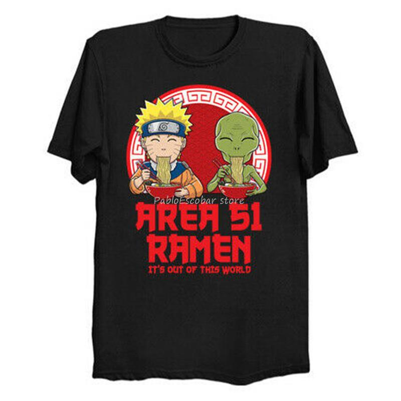 Area 51 Ramen Es ist aus dieser Welt heraus Lustige Naruto Manga schwarzes T-Shirt S-3XL-T-Stück T-Shirt männlichen Marke T-Shirt Sommer