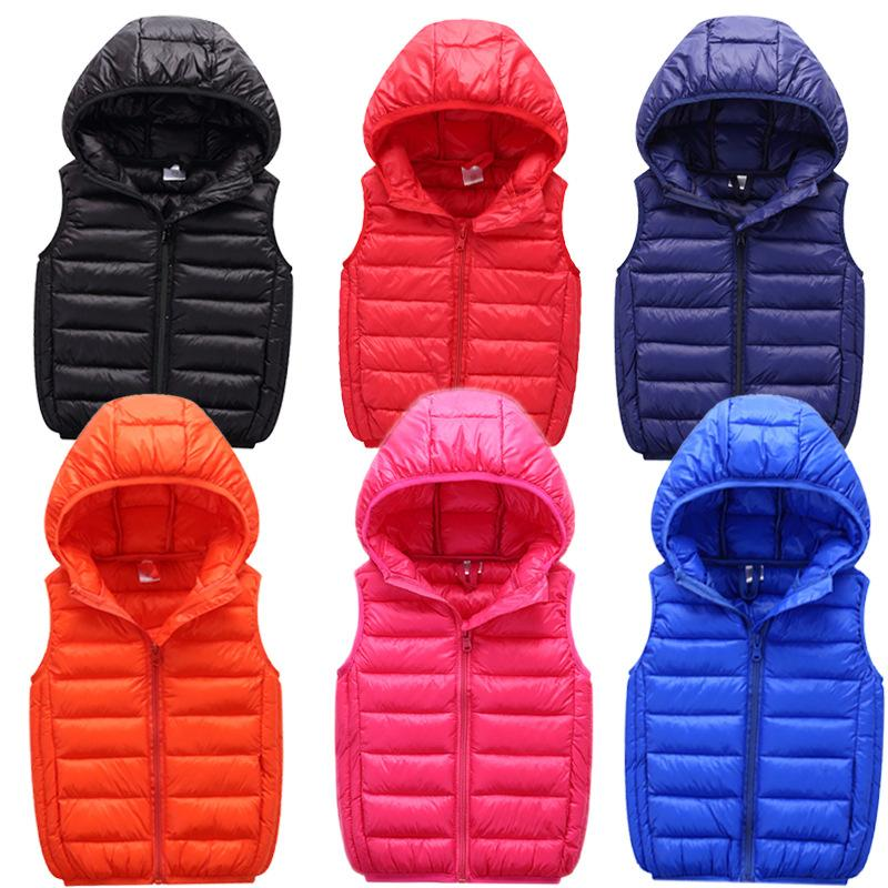 Kids Vest Children's Hooded Vest Girls Spring Autumn Waistcoats Fashion Vests for Boys Outerwear Coats Teenage girl clothes