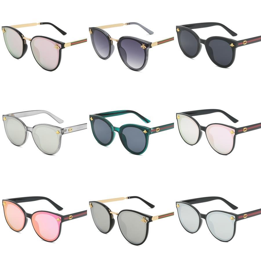 جولة خمر الكبير المتضخم عدسة مرآة العلامة التجارية الوردي النظارات الشمسية سيدة كول ريترو UV400 النساء نظارات شمسية أنثى KQW123 # 435