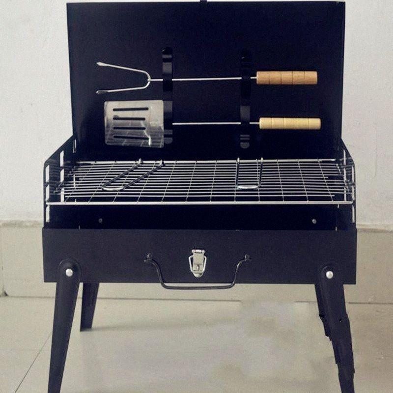 2017 begrenzte Förderung Schwarz 3-5 Personen nicht beschichtet Guss 3c Outdoor-Grill Koffer Grill Portable Zubehör Camping Supplies UzE5 #