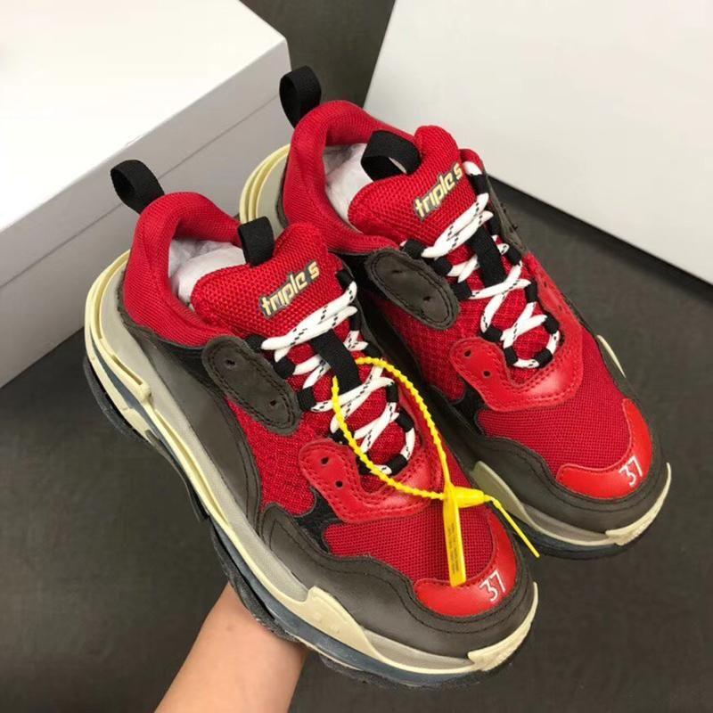 Calzado casual diseñador de París 17FW Triple Triple zapatillas de deporte de los zapatos de baloncesto de lujo para los hombres zapatos de diseño de la vendimia SportsTrainer SZ 36-45 c26