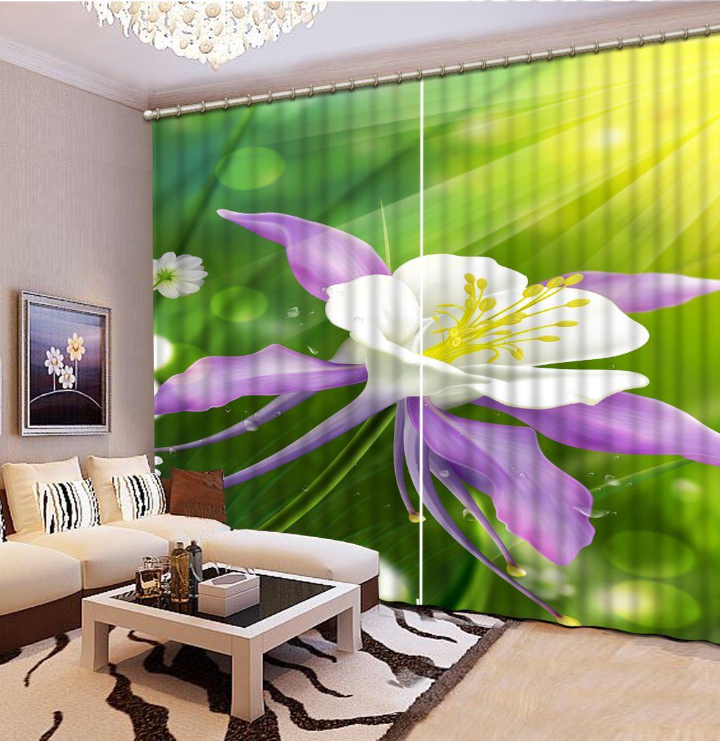3D Солнечные цветы Шторы для спальни для гостиной комнаты Офис Гостиница Blackout Curtain Роскошное украшение