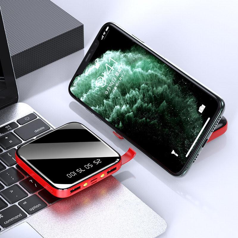 جديد مصغرة عالية القدرات قوس USB شحن كنز العرض الرقمي المحمولة شحن سريع امدادات الطاقة العالمية المحمول للهاتف
