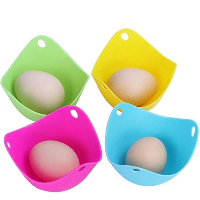 Stampo in silicone bracconiere dell'uovo Bracconaggio Pods Egg Bowl anelli della caldaia del fornello da cucina Cooking Tools Pancake Maker 4 colori
