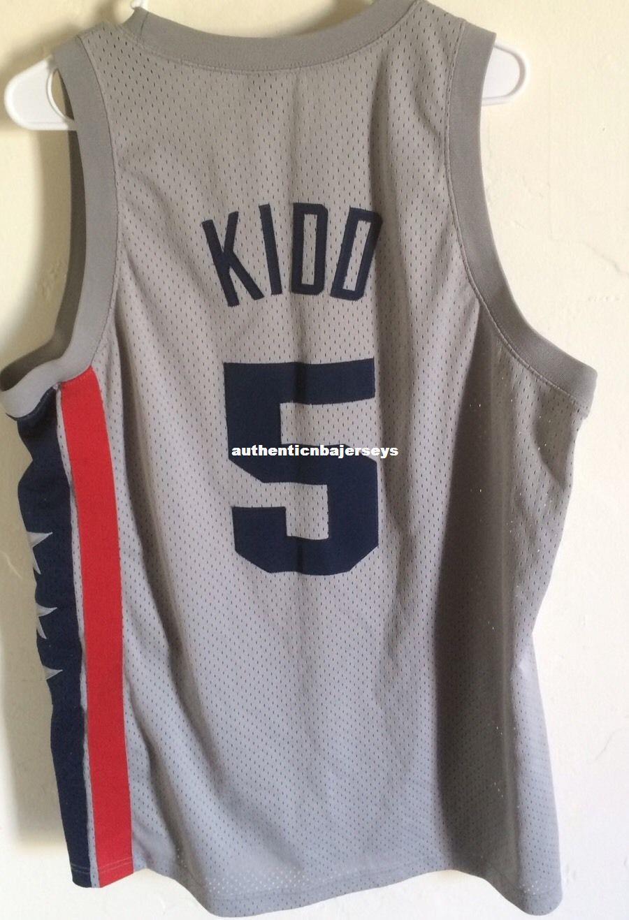 Barato por atacado Jason Kidd New Jersey nk Rewind Sewn Men # 5 Martin T-shirt colete costurado basquete jerseys Ncaa