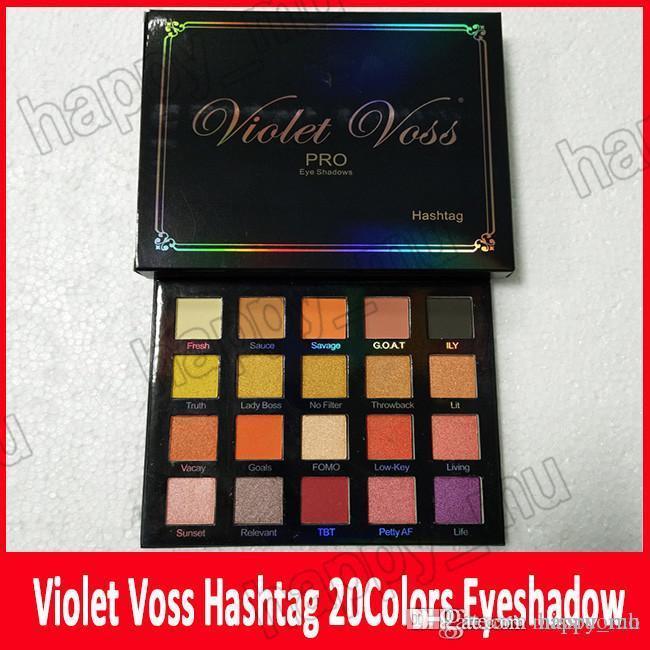 Yeni Makyaj Menekşe Voss Kutsal Hashtag Pro Göz Farı Paleti Refordu 20 Renkli Pırıltılı Mat Göz Farı