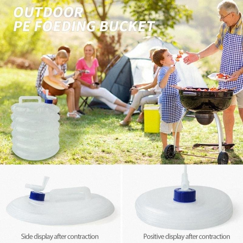 5/10 / 15L extérieur sac d'eau de camping d'urgence sac d'eau potable portable pliable PE réservoir boXW #