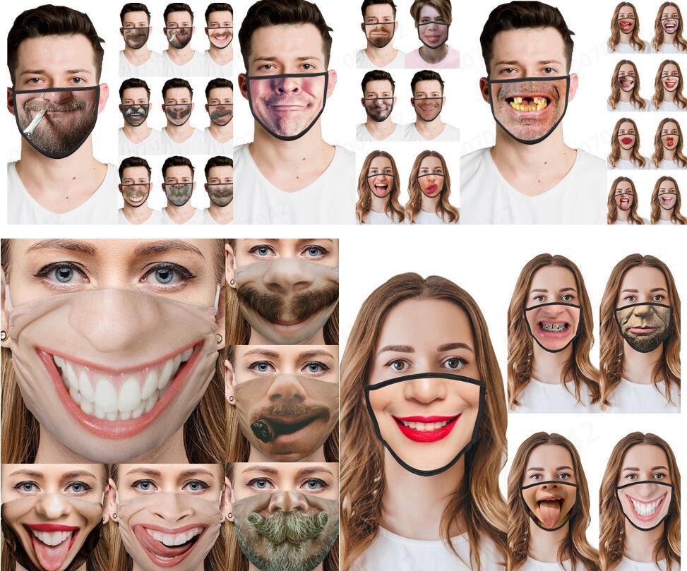 Protective face coberta para Mulheres Homens reutilizável lavável Bandanas respirável 3D Impresso Meia cara Poeira Capa respirável face Boca mDfnC