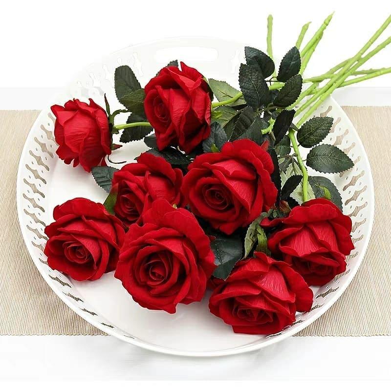 Singola testa decorazione di nozze artificiale rosa bouquet di fiori di seta rosa per la decorazione domestica decorazione della tavola mariage fiori
