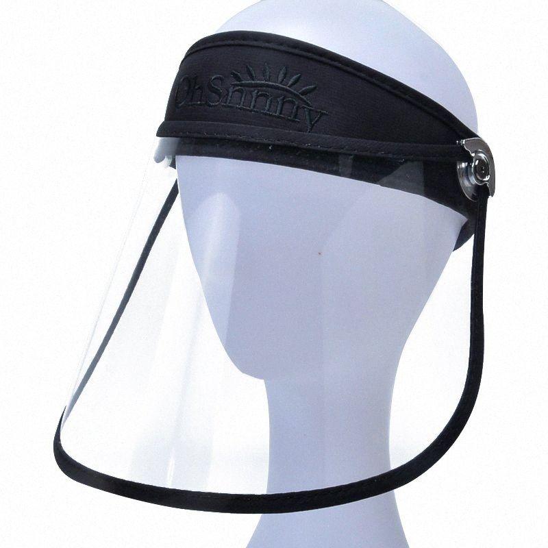 Schutzkappe Hut UV-Schutz-Sommer-Hut Unisex Anti-Droplet Saliva leere Top-Maske Gesichts-Schild Helm Multifunktions uOH3 #