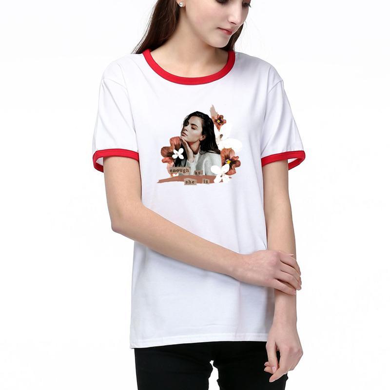 Kadınlar Tasarımcı T Shirt Yaz Moda Lady Tees Nefes Kısa SleevesFlower Desen Baskılı Tişörtler Gömlek İyi Kalite Pamuk Blend230 Tops