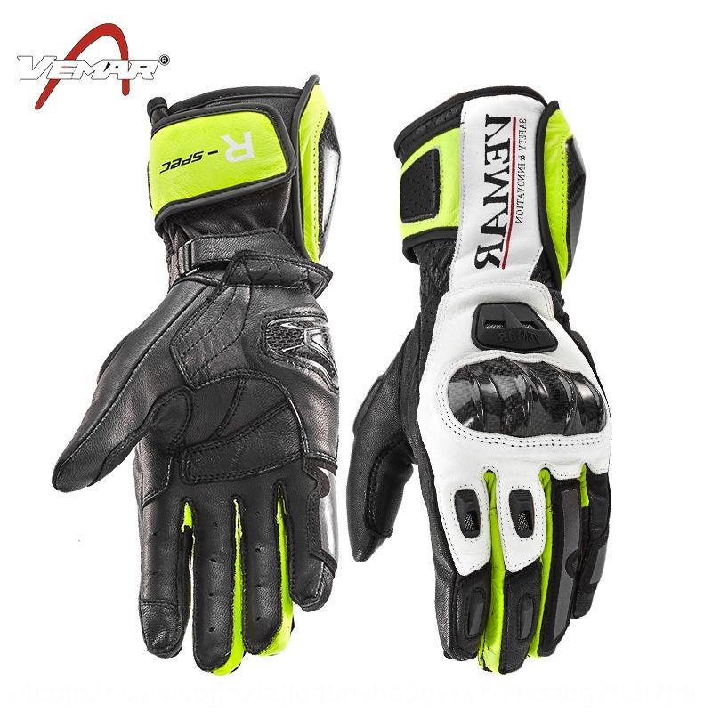 Dokunmatik ekran Motosiklet ve eldiven eldiven rüzgar geçirmez sürme deri motosiklet uzun karbon fiber kabuk erkek kış sonbahar geçirmez