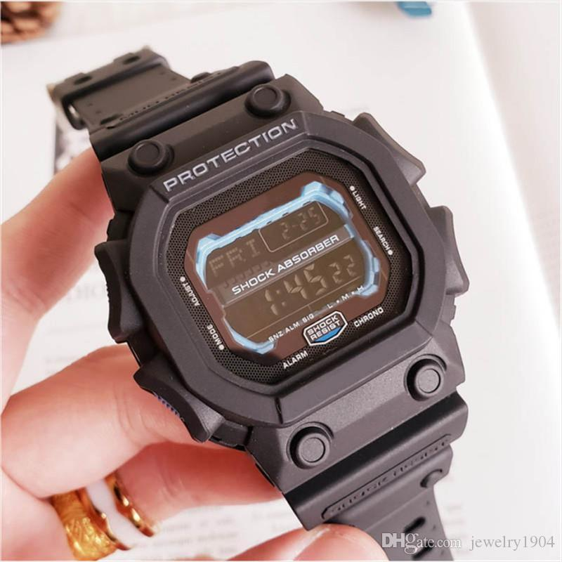 Мода женщин Mens Роскошная Часы Открытый водонепроницаемые спортивные часы Автоматические электронные часы Orologio ди Lusso Наручные часы