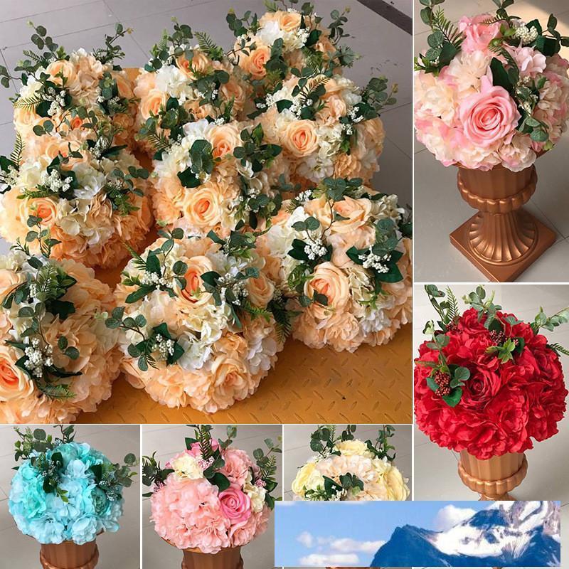 Rosequeen de fleurs artificielles Mariages fleur boule pour table Décoration Route Centerpieces plomb Fleur Décoration Fleurs