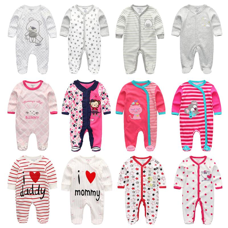 Newborn jumpsuit romper baby romper long sleeve baby warm outfit boy clothes girl cotton tights clothing 0-12m