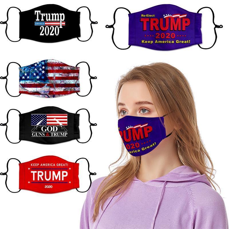 US Stock Trump Face Masks Amerikanska val levererar dammtät utskriftsskyddande gör Amerika igen kan infoga PM2.5 Filter Designer Masks