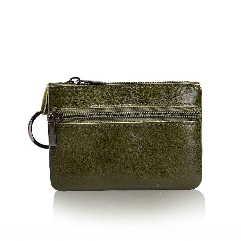 Cuir Mini sac carte petit sac à main de carte de pièce multi-fonctionnelle fermeture à glissière pièce clé à court sac à main