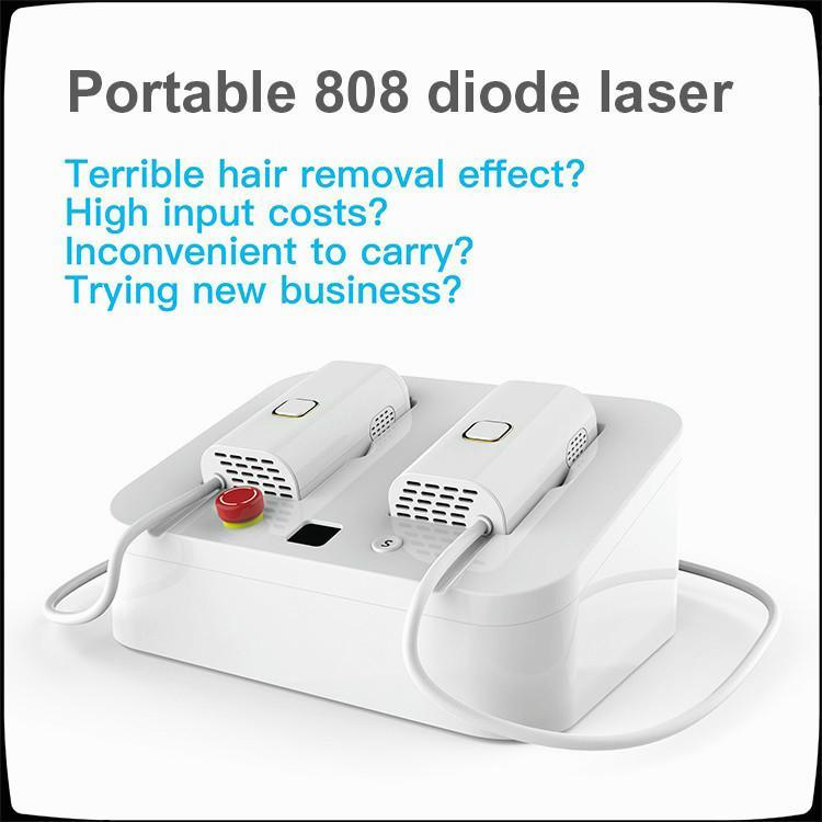 La eliminación de 808nm pelo manija 200W láser de alta potencia con 1,0 millones de vacunas 808 depilación láser Dispositivo de la máquina láser de diodo