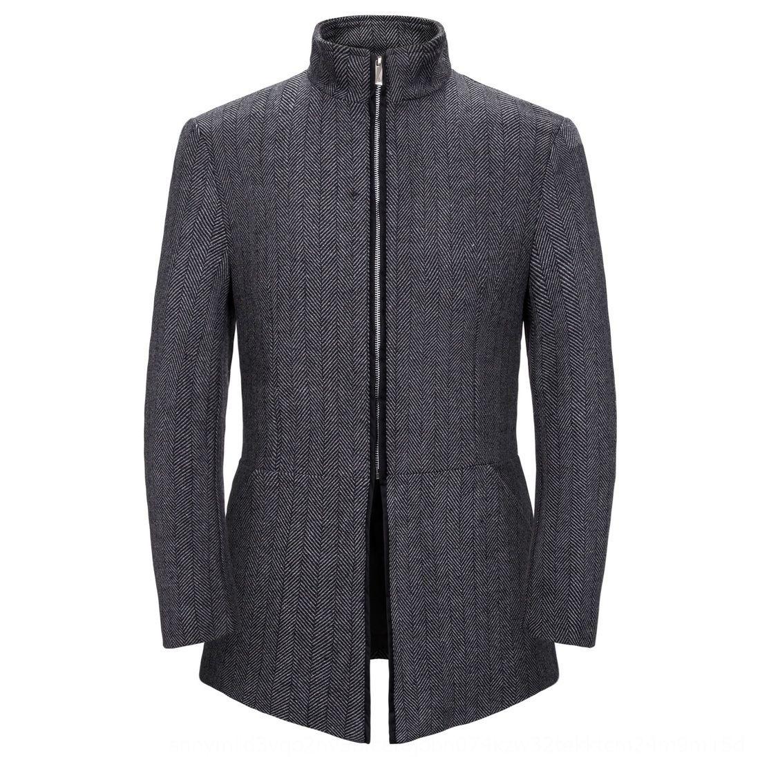 giacca a vento collare europea basamento formato colore solido casuale cappotto Windbreaker cappotto degli uomini dei nuovi uomini di