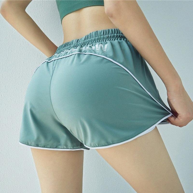 Yaz Spor Şort Kadınlar Anti-maruz İç Gevşek Nefes Hızlı Kuru Spor Yoga Egzersiz Fitnes gymwear mk1l # Koşu