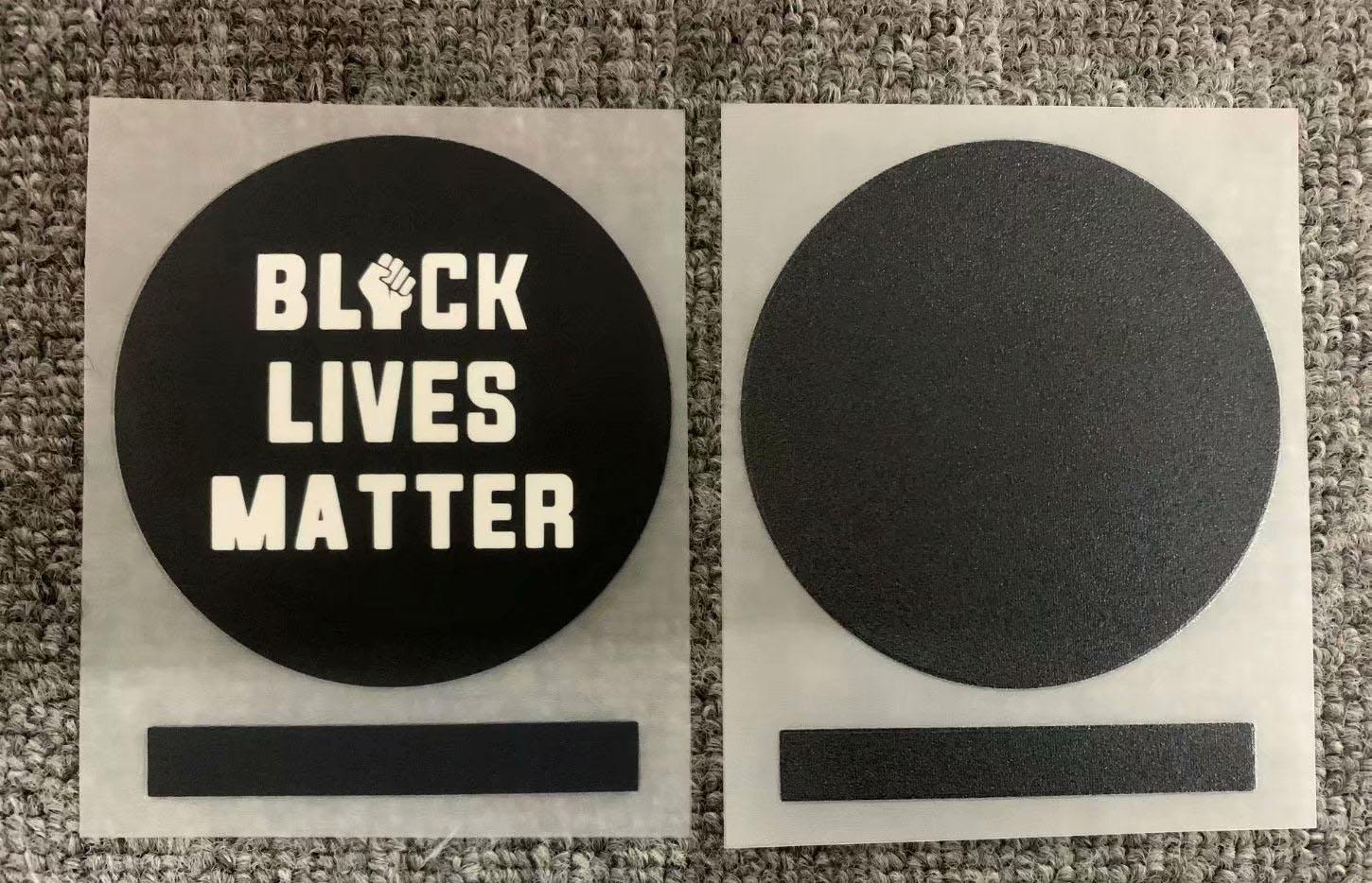 2020 Black Lives Matter Patch Heat Transfer Soccer Parches