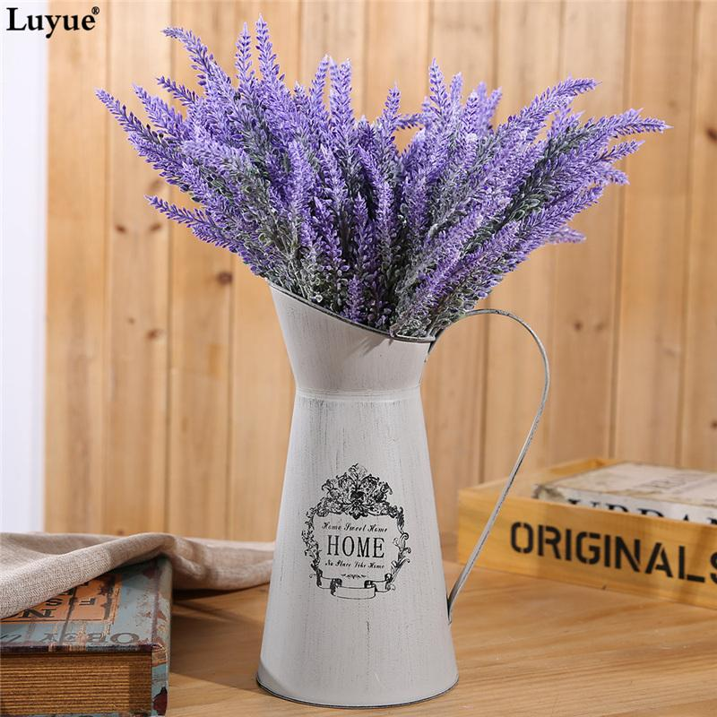 Luyue 6pcs/lot Romantic Artificial Lavender Flower Wedding Flowers Simulation Flowers Girl Gift Home Party Garden Decorative