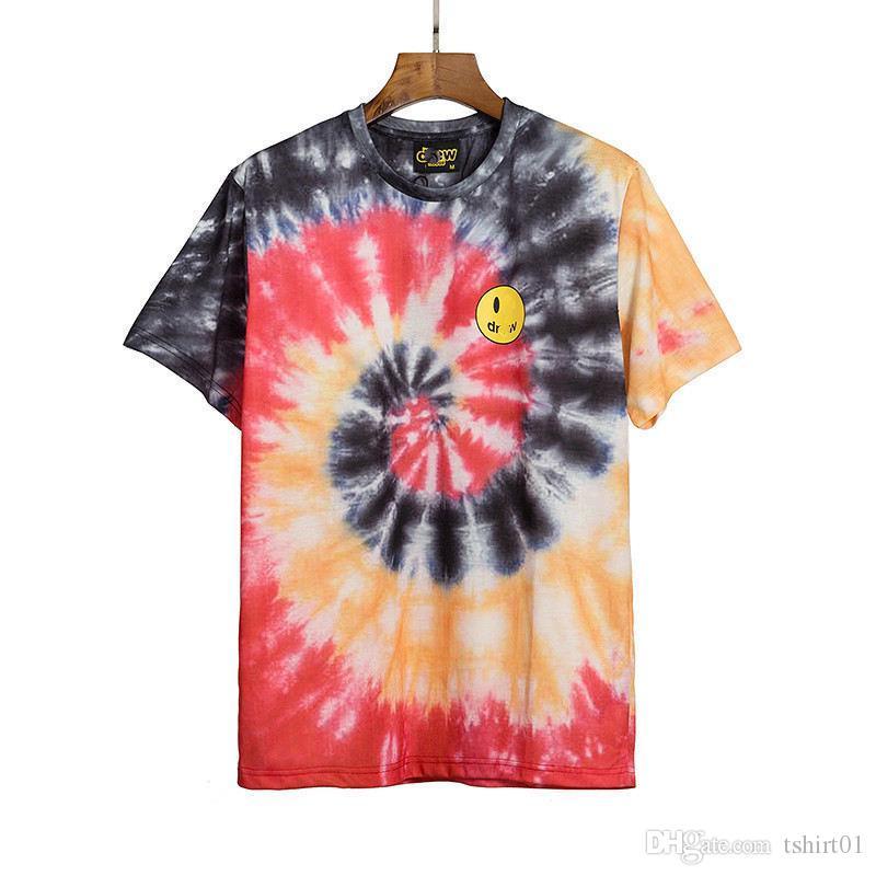 20ss de Drew camisa dos homens t Justin Bieber Summer Street Skate respirável Casual Top versão de rua do hip-hop de alta qualidade camisola Hoodies