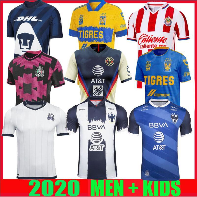 Mexique 2020 2021 CF Monterrey Club de football Maillots amérique liga mx 20 21 Rayados 75 ans Anniversaire CHIVAS UNAM Tigres UANL Football Shirt