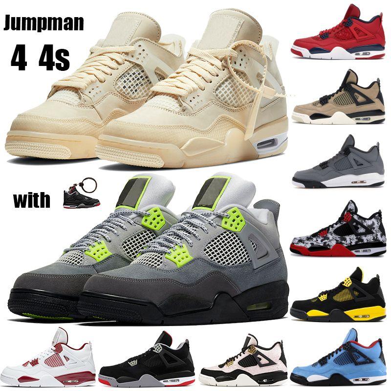 Designer Cool Grey 4 4s Hommes Chaussures de basket-ball Cactus Jack Black Gum de Thunder formateurs Day Singles Cat mens sport chaussures de sport