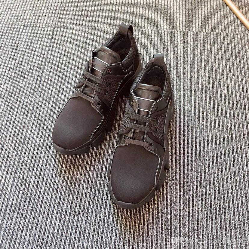 New Detroit Runner calçados casuais dos homens do desenhador de moda Sapatos Homens Castanho Branco desenhista calça o tamanho 35-40 hc18112902