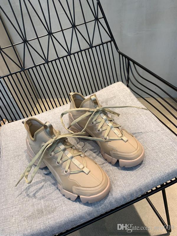 Роскошные дизайнерские ботинки тапок женщин Ladies Повседневная обувь Классический Pure White мужчины женщины обувь тренеры rx190407