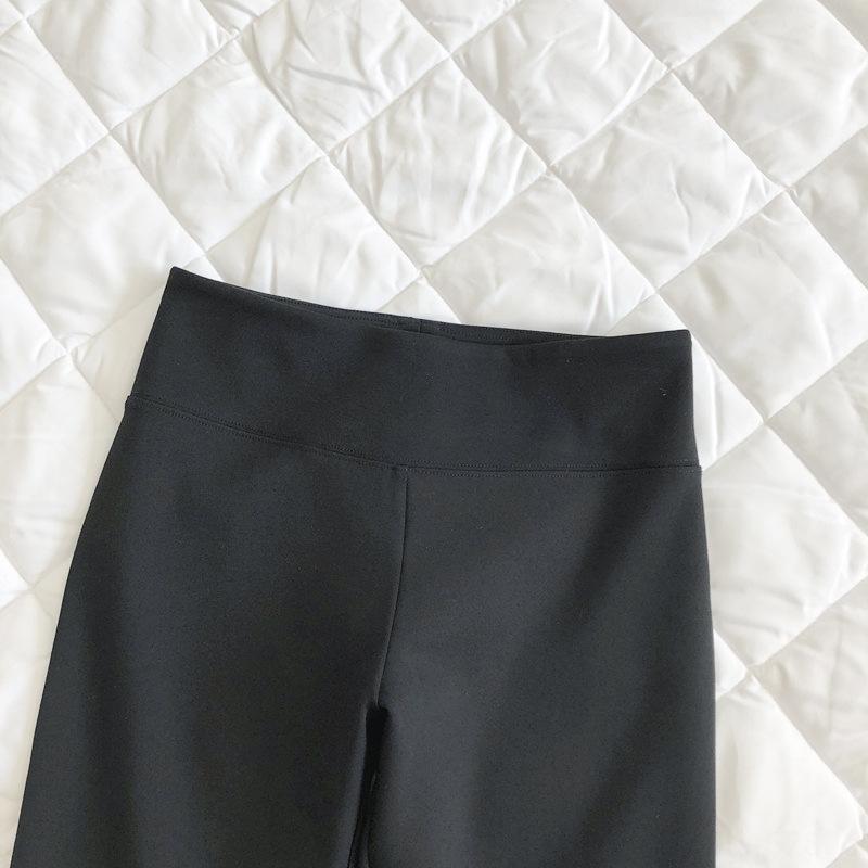 oh5dG IsGqw siyah teknoloji siyah parçalar ve elastik ou pantshigh rahat küçük kumaş tozluk 3 soft 3 sol Ben parçaları bırakmış