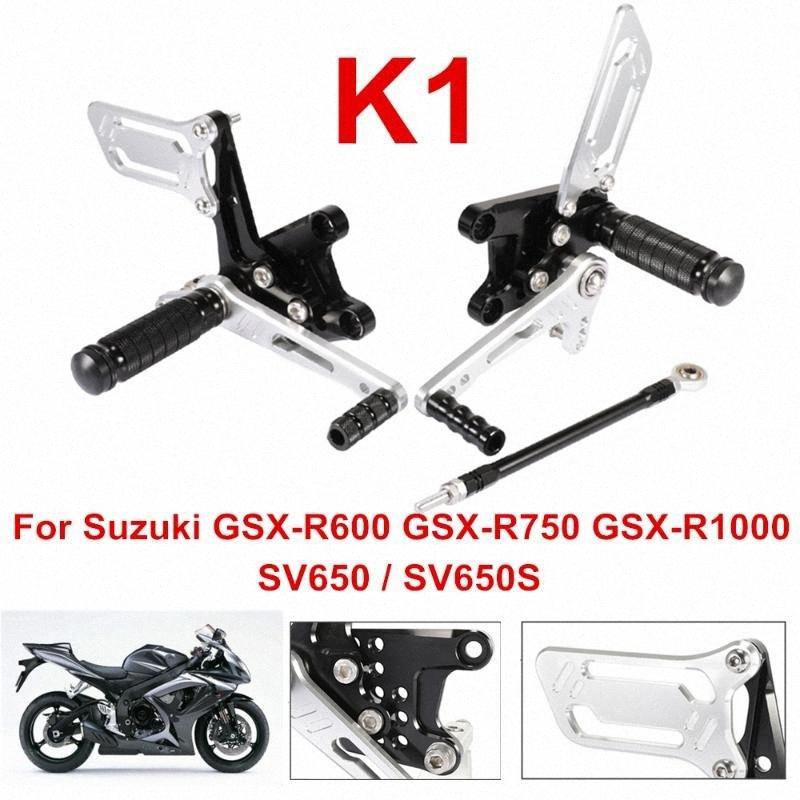 CNC Motosiklet Footrest ayakliklari Ayak Peg Pedallı rearset Gümüş Koruyucu için SV650 SV650 S gsxr750 GSX-R1000 K1 D40 sU83 #