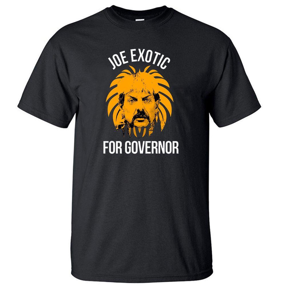Para el gobernador Rey Tigre camiseta de los hombres de Joe Tops exóticas camiseta de verano de algodón de manga corta camisetas divertidas Camisetas frescas Streetwear