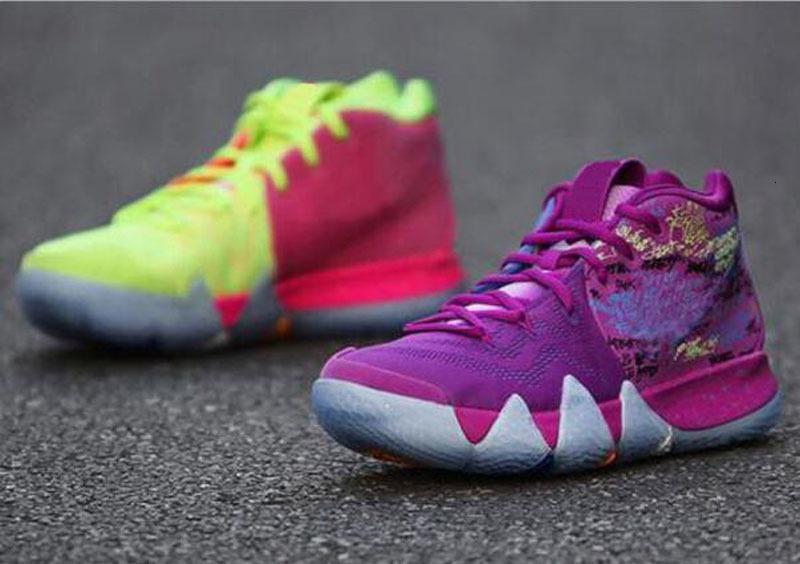 Yeni Kyrie Sneaker Odası Anne Kyrie Konfeti En Qaulitys 4 Irving Basketbol Çocuk Spor Sneakers Ayakkabı