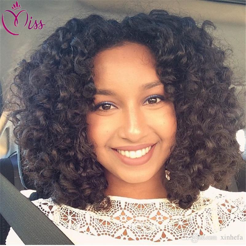 7A Cheap Full Lace Wigs Curly Malaysian Afro Kinky Curly Lace Front Human Hair Wigs With Baby Hair Natural Color