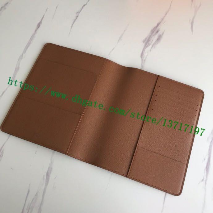 Top Real Calf Toile Mono Lettres Brown Catégorie Fleur couché cuir DESK 23 ORDRE DU JOUR DE COUVERTURE R20100 * 18.5cm