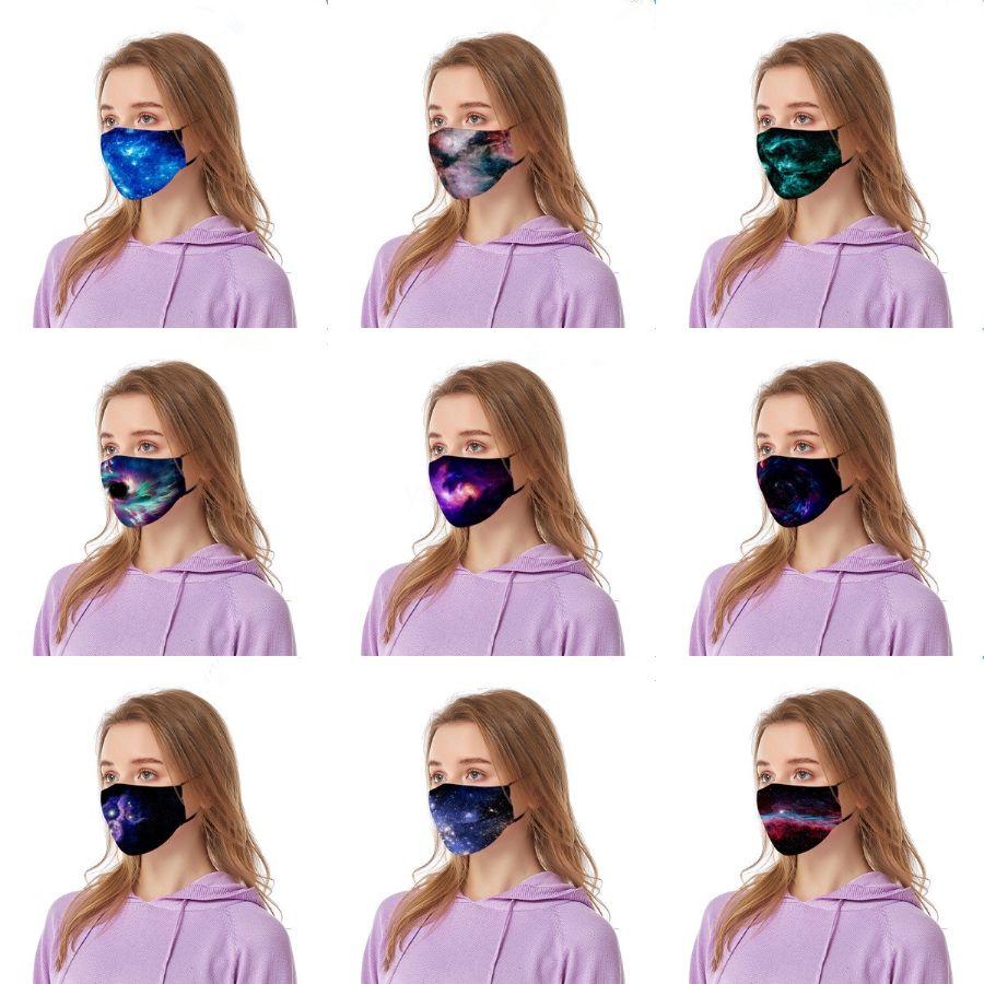 Sequin Imprimir exterior protectora Famask Wit 2pcs filtros Fa Maskswasable y reutilizable Fa-Mask-Wasable Famask Maske # 128