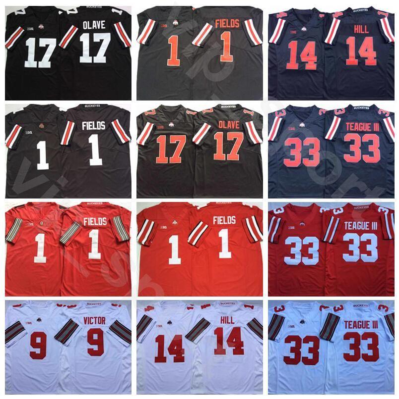 Американский футбол штата Огайо Buckeyes 33 Мастер Тиг III Джерси 1 Justin Fields 17 Chris Olave 14 K.J Hill 9 Binjimen Виктор