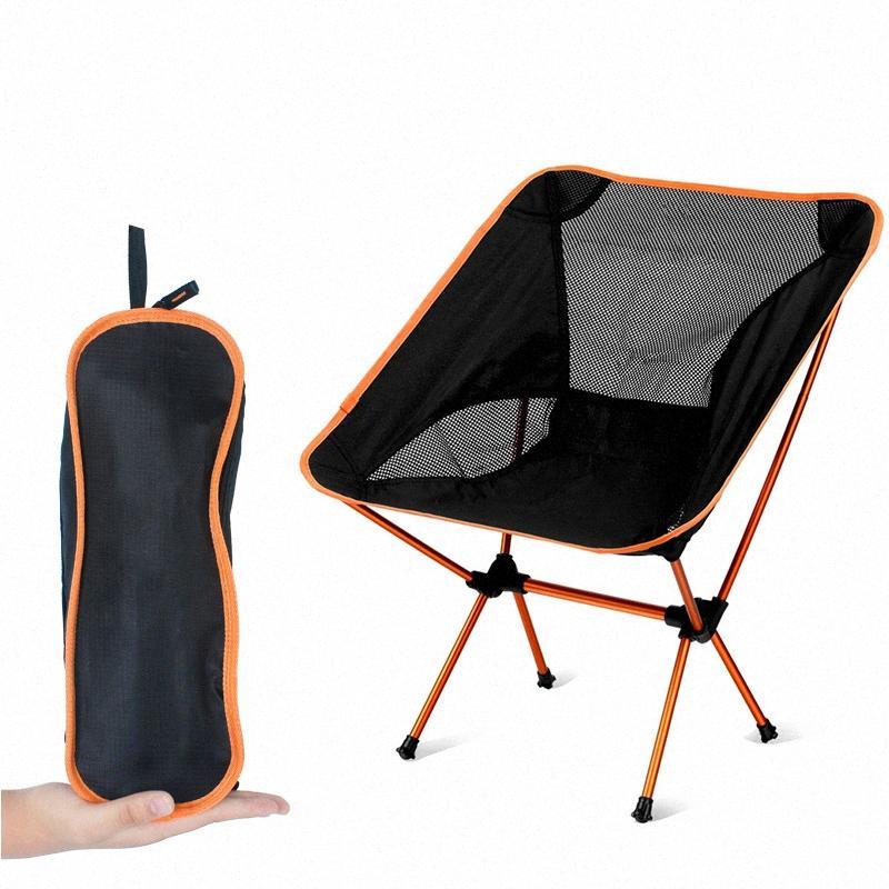 Portatif Katlanabilir Ay Sandalye Balıkçılık Kamp Barbekü Tabure Katlama Extended Yürüyüş Koltuk Bahçe Ultralight Büro Ev Mobilyaları wQcw #